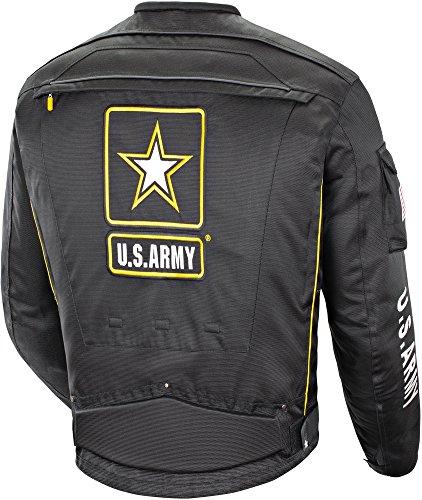 US Army Alpha-X - Mens Textile Motorcycle Jacket - Black - XX-Large