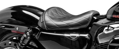 Le Pera Bare Bones Vinyl Diamond Solo Seat for Harley Davidson 2010-13 Sportste