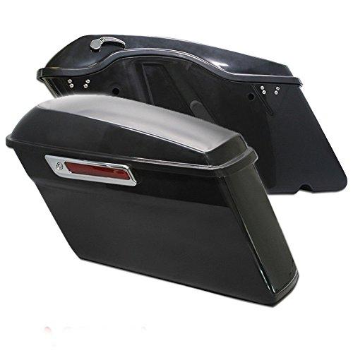HTTMT- Unpainted Black Saddlebag Trunk W Lib One Touch Latch Lock Hardware Kit For 2014-2016 Harley Davidson Touring Models