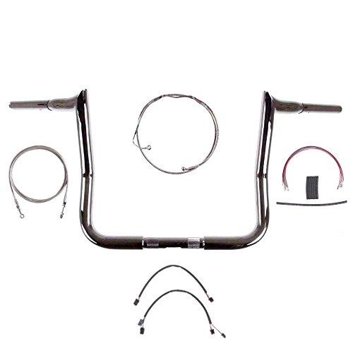 1 14 Chrome 14 Diablo Handlebar Kit for 2014-2015 Harley-Davidson Street Glide Ultra Classic models with ABS brakes - BC-693658-ESG15A