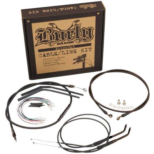 Burly Brand Black 14 Ape Hanger CableBrake Kit