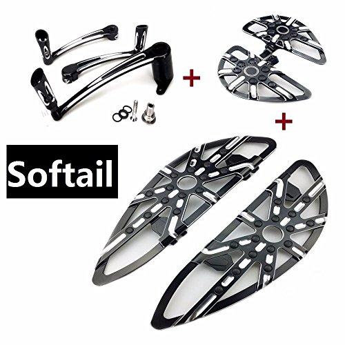 Motorcycle harley softail floorboards  brake arm softail  Heel Toe Shift Lever harley  passenger pegs 2000-2016