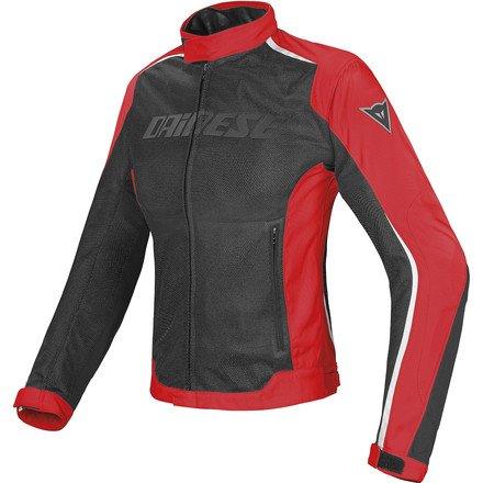 Dainese Hydra Flux D-Dry Womens Textile Jacket BlackRedWhite 46 Euro8 USA