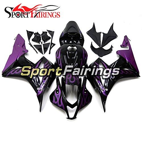 Sportfairings ABS Motorcycle Fairing Kit For Honda CBR600RR CBR600 RR F5 Year 2007 2008 Full Covers Purple Black Body Kit