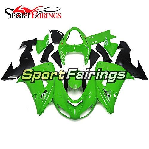 Sportfairings Green Black Matte Plastics Injection ABS Motorcycle Fairing Kits For Kawasaki ZX10R Year 2006 2007 Fairings