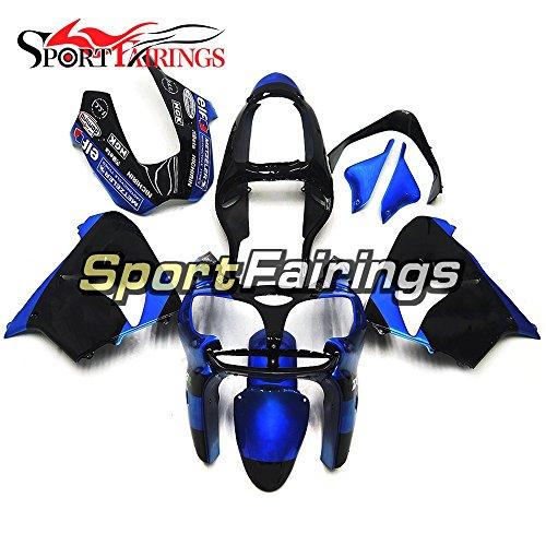 Sportfairings Plastics ABS Motorcycle Fairing Kits For Kawasaki ZX9R Year 2000 2001 Blue Black Motorbike Cowling Bodywork