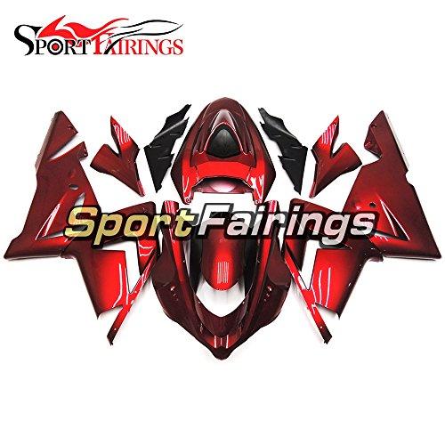 Sportfairings Plastics Injection ABS Motorcycle Fairing Kits For Kawasaki ZX10R Year 2004 2005 Gloss Red Cowlings