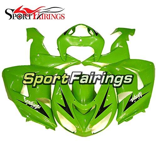 Sportfairings Plastics Injection ABS Motorcycle Fairing Kits For Kawasaki ZX10R Year 2006 2007 Green Fairings