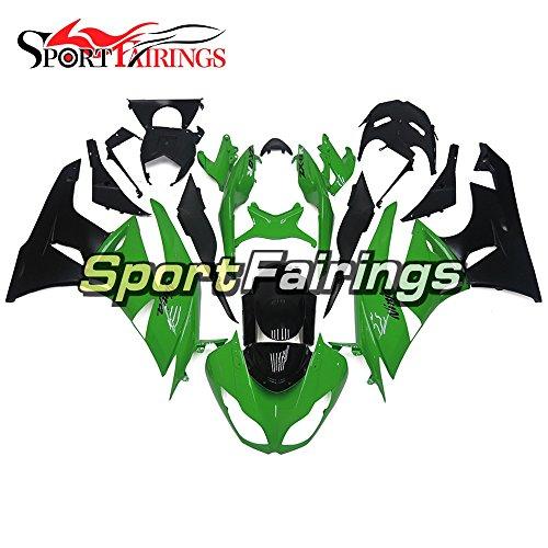 Sportfairings Plastics Injection ABS Motorcycle Fairing Kits For Kawasaki ZX6R Ninja636 Year 2009 2010 2011 2012 Green Black Body Frames Motorbike Cowling