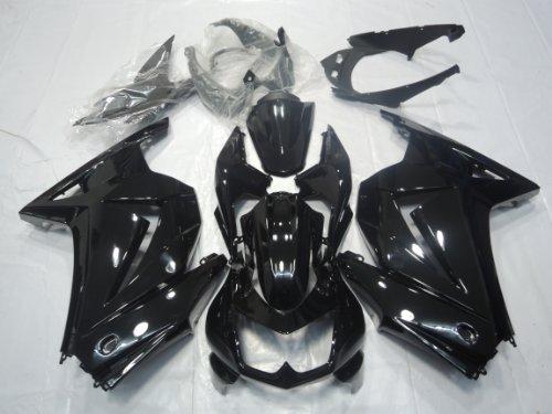 ZXMOTO K0208BLK ABS Motorcycle Bodywork Fairing Kit for 08 - 12 Kawasaki NINJA EX250 2008 2009 2010 2011 2012 Gloss Black - Pieceskit 15