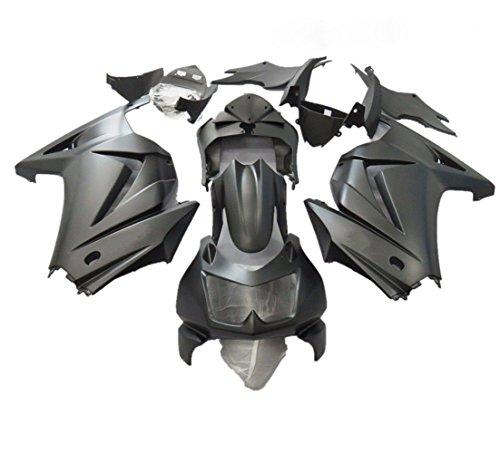 ZXMOTO Matte Black ABS Motorcycle Bodywork Fairing Kit for 08 - 12 Kawasaki NINJA EX250 2008 2009 2010 2011 2012 Pieceskit 15