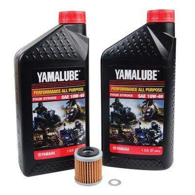 Tusk 4-Stroke Oil Change Kit Yamalube All Purpose 10W-40 - Fits Yamaha WR250R 2008-2017