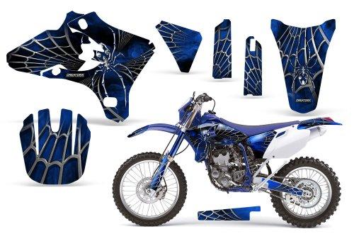 CreatorX Yamaha Yz250F Yz450F Wr250 Wr450 Graphics Kit SpiderX Blue
