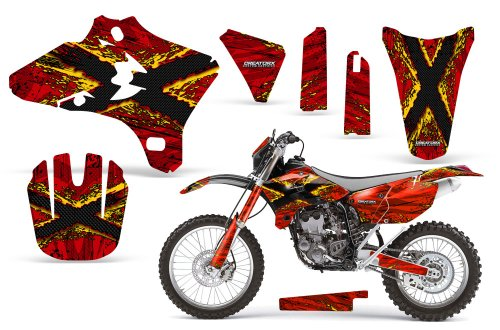CreatorX Yamaha Yz250F Yz450F Wr250 Wr450 Graphics Kit TribalX Yellow Red Incl Number Plate Graphics