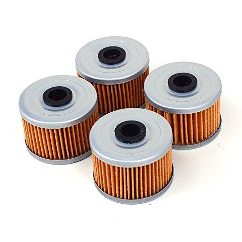 JFG RACING 4 Oil Filters Cleaner For Honda CBR250 CBX250 CRF250 XL250R XR250 CB300 CBR300 XL350 XR350 GB400 XR400 GB500 XBR500F XL600 XR600 FX650 NX650 XR650