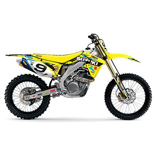 2008-2017 SUZUKI RMZ 450 Team JTech Motocross Dirt Bike Number Plates