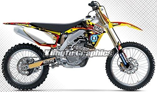 Kungfu Graphics Custom Decal Kit for Suzuki RMZ 450 2008 2009 2010 2011 2012 2013 2014 2015 2016 Yellow White
