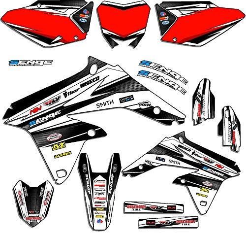 Senge Graphics 2005-2006 Suzuki RMZ 450 Vigor White Graphics Kit