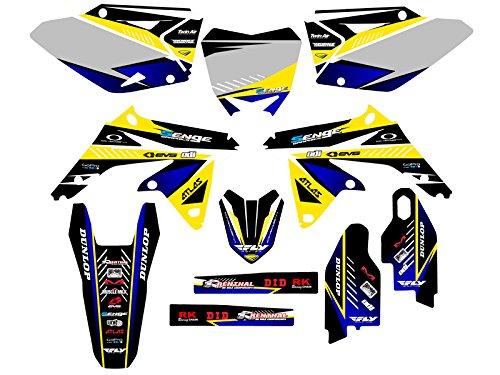 Senge Graphics 2008-2017 Suzuki RMZ 450 Surge Yellow Graphics Kit