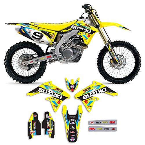 2008-2017 SUZUKI RMZ 450 Team JTech Motocross Graphics Kit By Enjoy Mfg