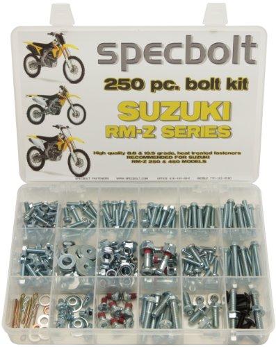 Specbolt Fasteners 250pc Maintenance Restoration OE Spec Motorcycle Bolt Kit for Suzuki RMZ 4 Stroke MX Dirtbike RMZ250 RMZ450 RM-Z250 RM-Z450