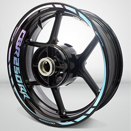 2 Tone Amethyst Motorcycle Rim Wheel Decal Accessory Sticker for Honda CBR 250RR