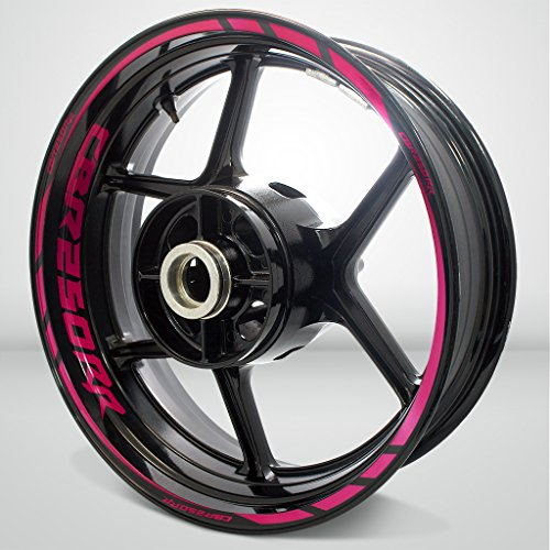 2 Tone Cranberry Motorcycle Rim Wheel Decal Accessory Sticker for Honda CBR 250RR