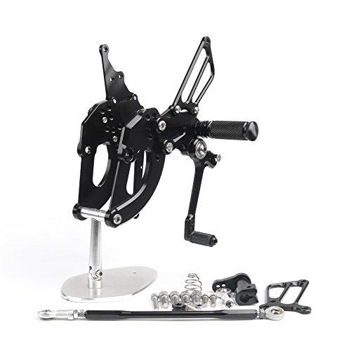 Areyourshop Adjustable Rearsets Footrest Foot Pegs Rear Set For Honda CBR 250RR 2017 Black
