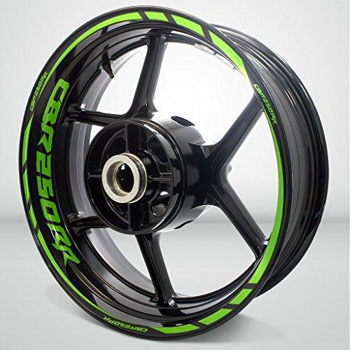 Gloss Light Green Motorcycle Rim Wheel Decal Accessory Sticker for Honda CBR 250RR