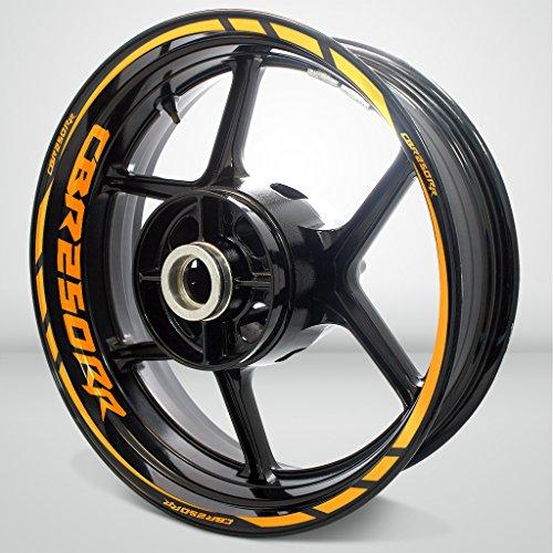 Gloss Orange Motorcycle Rim Wheel Decal Accessory Sticker for Honda CBR 250RR