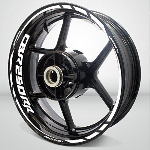 Gloss White Motorcycle Rim Wheel Decal Accessory Sticker for Honda CBR 250RR