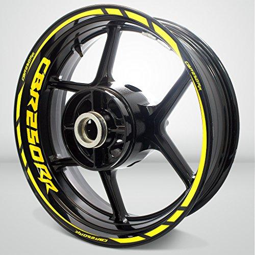 Gloss Yellow Motorcycle Rim Wheel Decal Accessory Sticker for Honda CBR 250RR