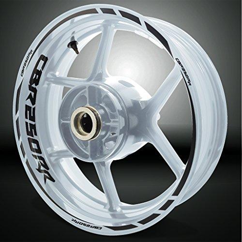 Reflective Black Motorcycle Rim Wheel Decal Accessory Sticker for Honda CBR 250RR