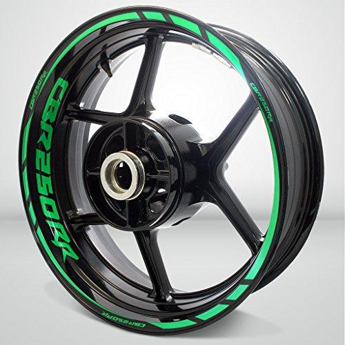 Reflective Green Motorcycle Rim Wheel Decal Accessory Sticker for Honda CBR 250RR
