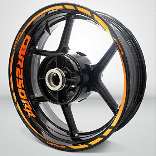 Reflective Orange Motorcycle Rim Wheel Decal Accessory Sticker for Honda CBR 250RR