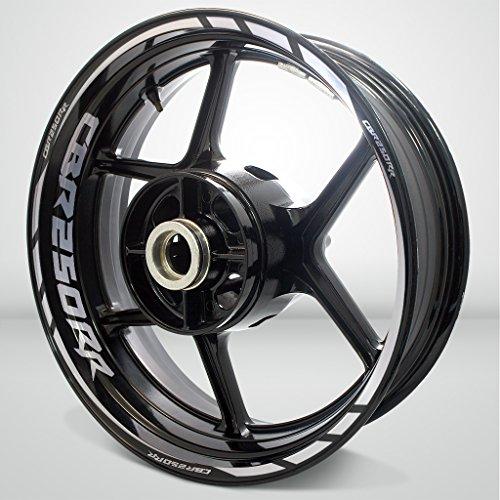 Reflective Silver Motorcycle Rim Wheel Decal Accessory Sticker for Honda CBR 250RR