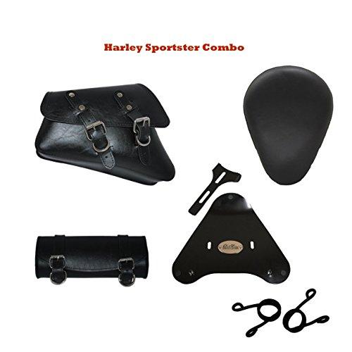 100 US Made Harley Sportster Nightster 883 Iron 1200 Saddle Bag Swingarm Bag and Tool Bag Tool Roll Combo