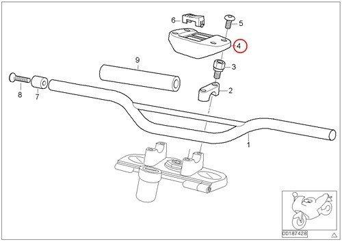 BMW Genuine Motorcycle Heated Handlebar Switch Support F650GS F650GS Dakar G650GS