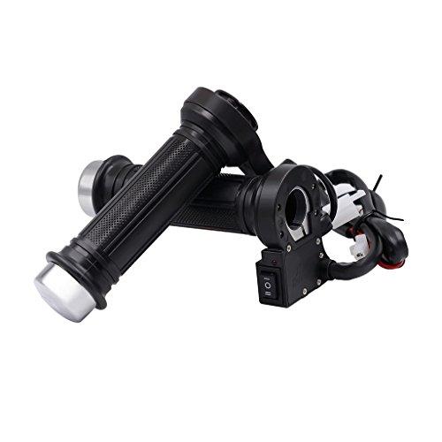 Jili Online 22mm Heated Handlebar Grips Comfortable Rubber Grip Waterproof Switch Frame Parts