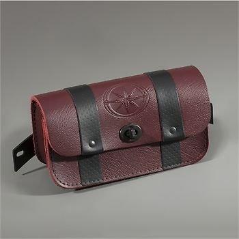 2014 14 Yamaha Bolt Cruiser Oxblood Leather Windshield Storage Luggage Bag