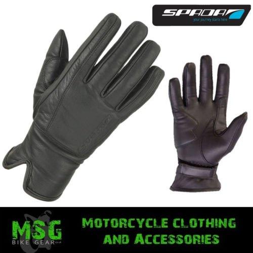 Spada Freeride Cruiser Leather Waterproof Motorcycle Gloves - Black S