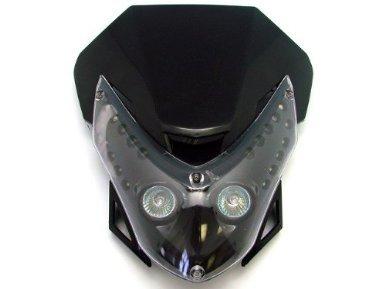 TMS THLSF-HY012-K Headlight Fairing Street Fighter Kawasaki Ex 250 500 Ninja Ex500 Yamaha FZR Fazor Fz6 Fz1 YZF R1 R6 Honda CBR F2 F3 F4i F4 Dirt Bike Xr Crf