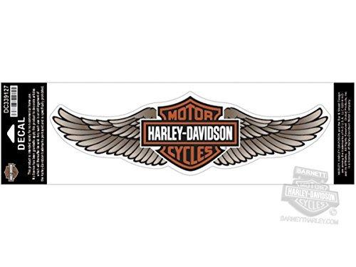 Harley-Davidson Tan Straight Wing B&S 3X Decal