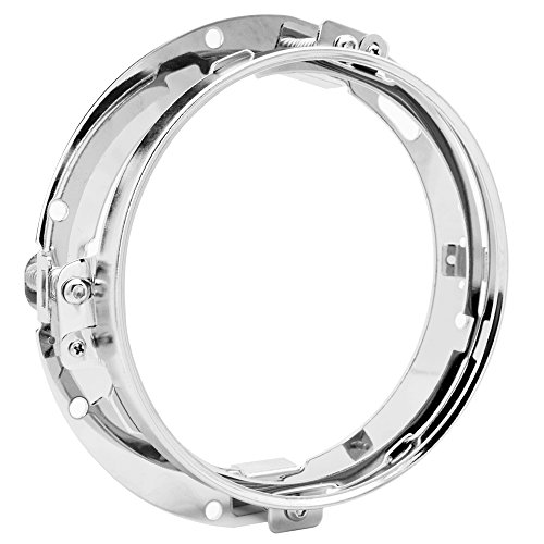 7 inch Headlight Mounting Bracket Ring Holder For Harley Davidson Touring FLD Softail Chrome