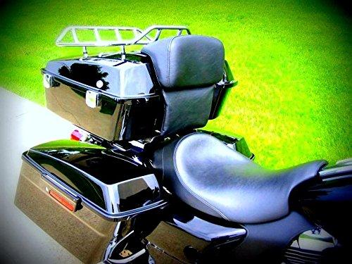 Backrest Fits Chopped Razor Tour Pak Trunk Pack Back Rest for Harley Davidson Touring Models Direct Replacement Electra Glide Road Glide Road King Street Glide