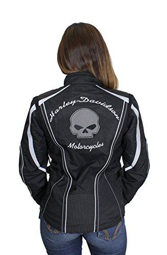 Harley-Davidson Womens Willie G Skull Waterproof Riding Functional Jacket 98089-15VW Medium