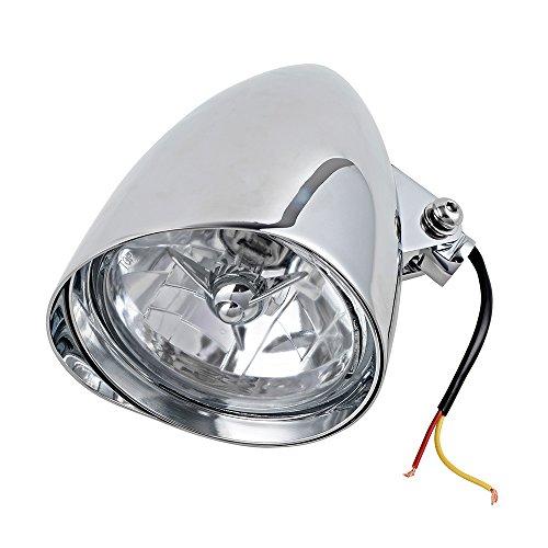 575 x 9 Chrome Billet Bucket Headlight w Visor for Harley Chopper Bobber Custom