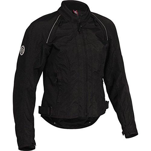 FirstGear Contour Tex Womens Textile Street Racing Motorcycle Jacket - Black  Medium