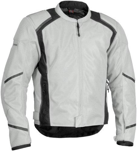 Firstgear Mesh-Tex Jacket  Gender MensUnisex Size Lg Distinct Name Silver Primary Color Silver Apparel Material Textile FTJ130702M003