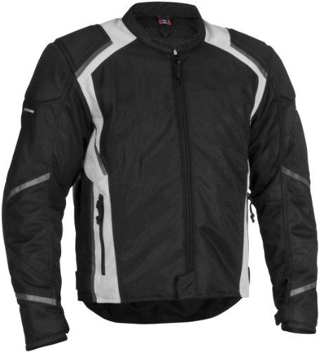 Firstgear Mesh Tex Jacket - X-Large TallBlackSilver